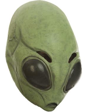 Zielona maska Kosmita dla dorosłych