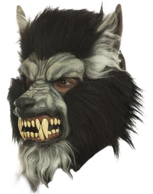 Máscara de hombre lobo hambriento para adulto