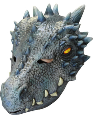Bluish Dragon Mask for Adults