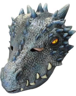Máscara de dragón azulado para adulto