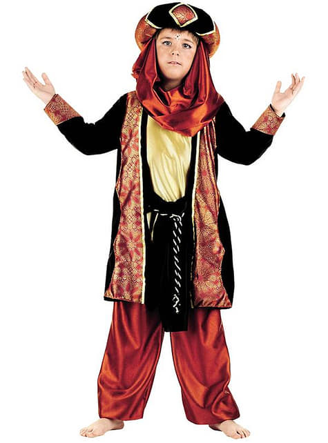 Jungenkostüm Tuareg in Messingfarbe