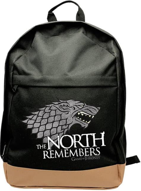 Mochila Game of Thrones Stark preta
