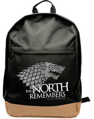 Чорний Гра престолів Старка рюкзак