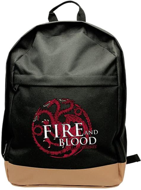 Mochila Juego de Tronos Targaryen negra