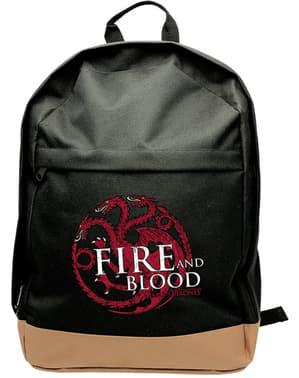 Чорний Гра престолів Targaryen рюкзак