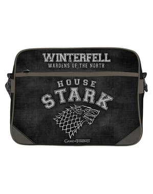 Czarna torba na ramię Stark Gra o Tron