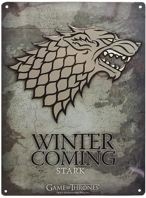 Placa metálica decorativa Stark