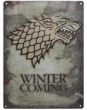 Dekorativní kovová destička Starkové