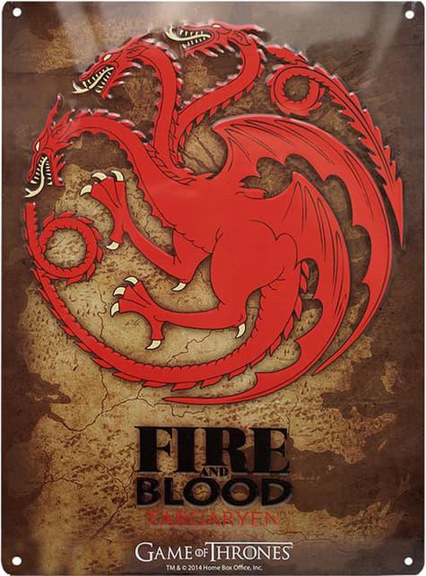 Placa metálica decorativa Targaryen
