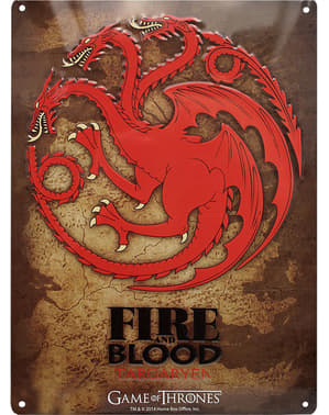 Ukrasna Targaryen metalna ploča