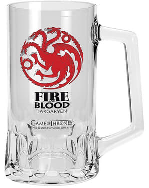 Chope en verre Game of Thrones Targaryen