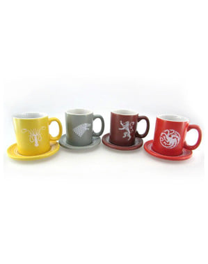 Set mini tazas Juego de Tronos Emblemas Casa