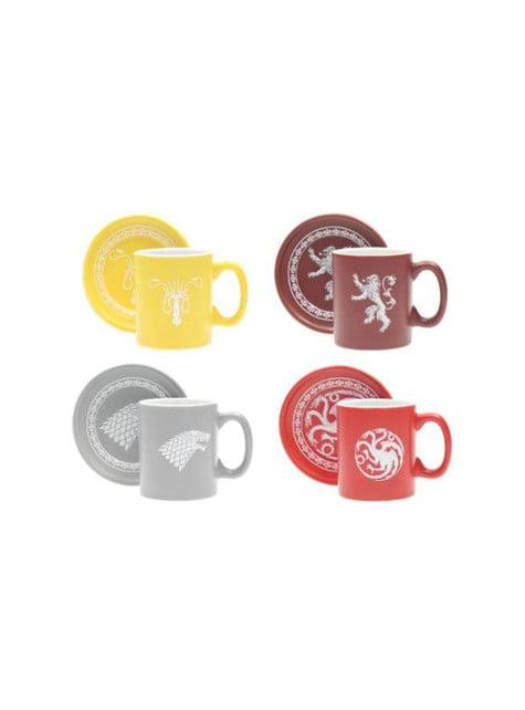 Set mini tazas Juego de Tronos Emblemas Casa - oficial