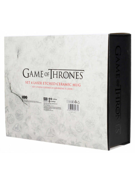 Set of 4 Deluxe Game of Thrones Mugs