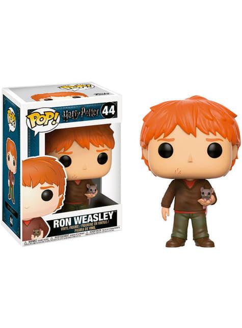Funko POP! Ron Weasley con Scabbers - Harry Potter