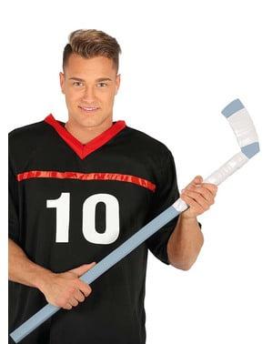 Baston de hockey gri cu alb pentru adult