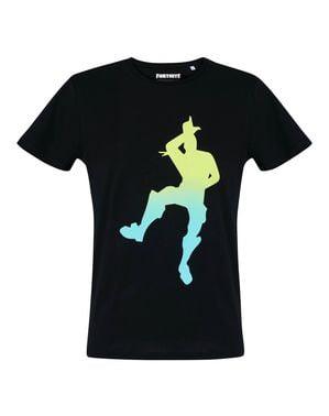 Czarna koszulka dla dorosłych Taniec Fortnite - Fortnite
