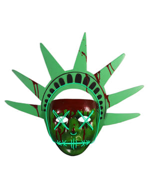 Maschera Statua della Libertà La Notte del Giudizio (The Purge)
