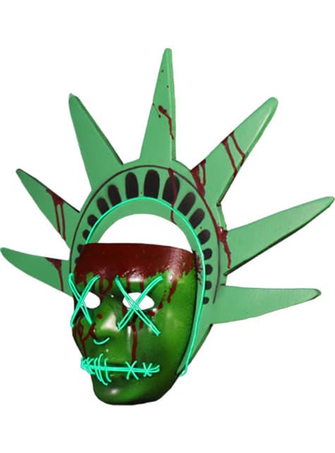 Máscara de Estatua de la Libertad La Purga - para tu disfraz