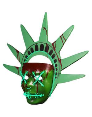 自由の女神像光を持つ大人のためのパージマスク