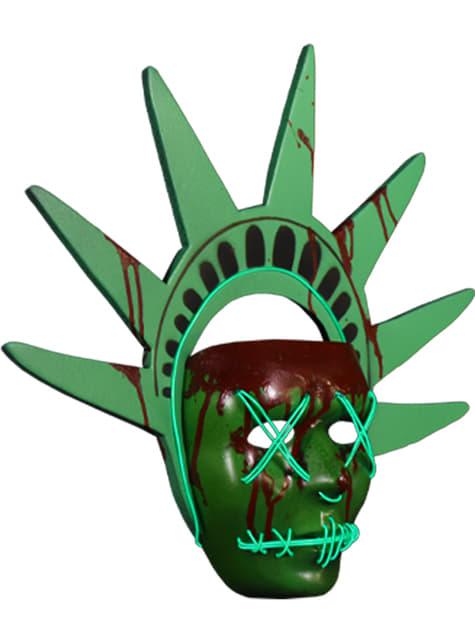 Máscara de Estatua de la Libertad La Purga - original