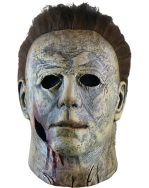 Maschera di Michael Myers 2018 con sangue per adulto - Halloween 2018