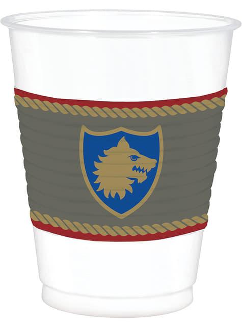 25 vasos con escudo medieval - Medieval Collection