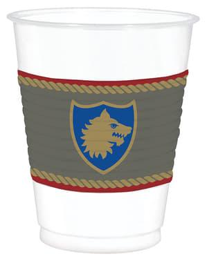 Sett med 25 kopper med middelalder skjold - Medieval Collection