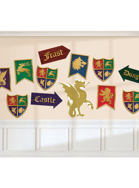 12 medieval shields signs - Medieval Collection
