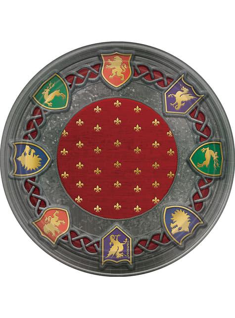 8 platos pequeños con escudos medievales (18 cm) - Medieval Collection