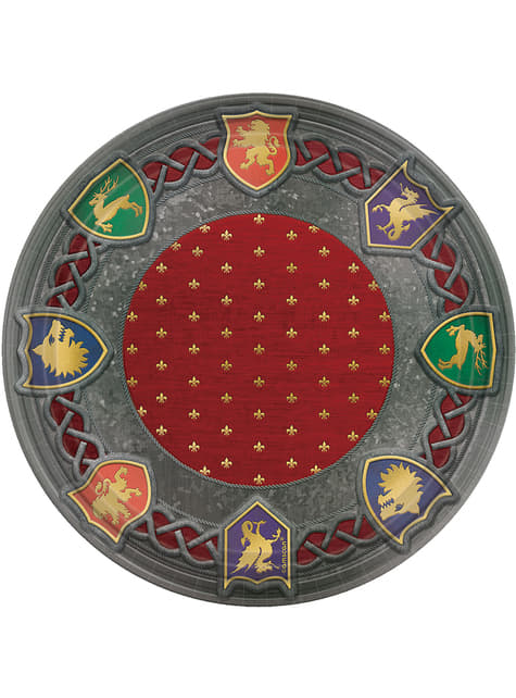 8 platos con escudos medievales (27 cm) - Medieval Collection