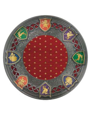 Ortaçağ kalkanlı 8 tabak seti - Medieval Collection