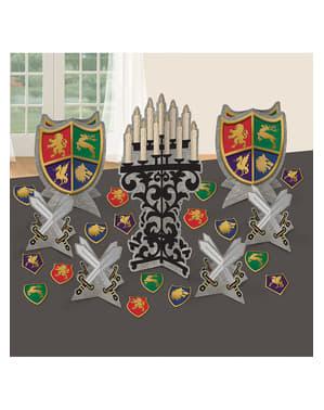 Mittelalter Tisch-Deko Set 9-teilig - Medieval Collection