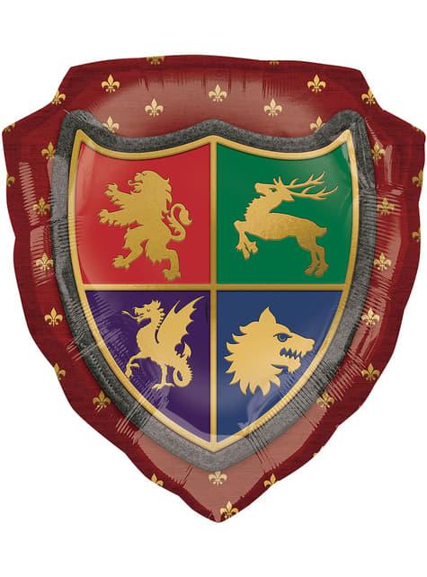 Globo de foil de escudo medieval - Medieval Collection