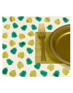 48 individual table cloths with tropical leaves - Key West