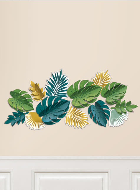 13 hojas tropicales decorativas - Tropical Gold