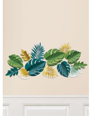13 hojas tropicales decorativas - Tropical Gold
