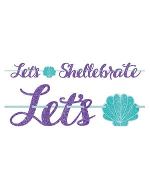 "Girlanda muszle ""Let's shellebrate"" - Mermaid Wishes"