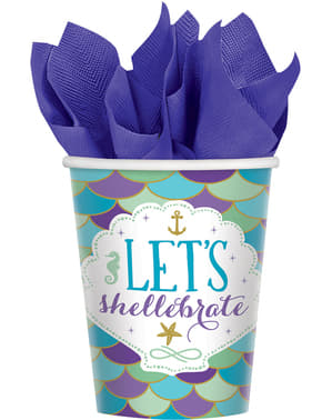 8 Let's celebrate cups - Mermaid Wishes