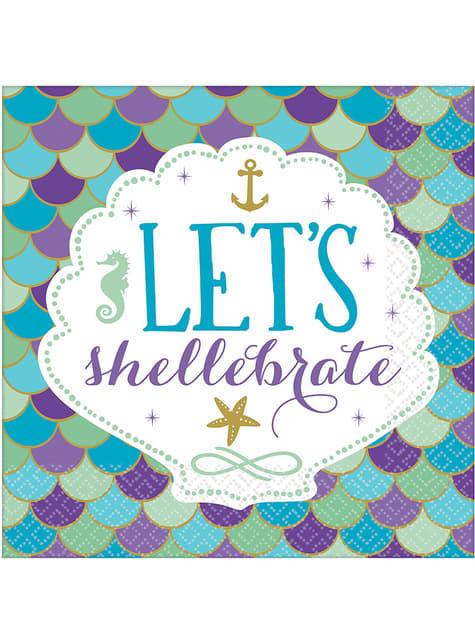 16 serviettes let's celebrate - Mermaid Wishes