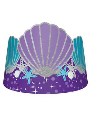 Sett med 8 tiaras med skall - Mermaid Wishes