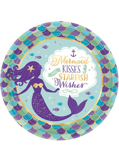 8 assiettes sirène- Mermaid Wishes