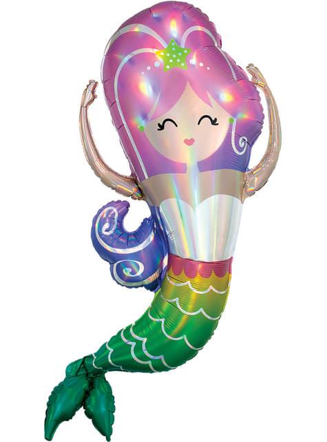 Globo de foil de sirena alegre - Mermaid Wishes