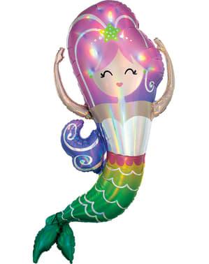 Glad havfrue folieballong - Mermaid Wishes