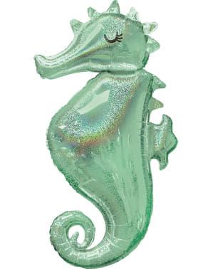 Balão de foil de cavalo marinho - Mermaid Wishes