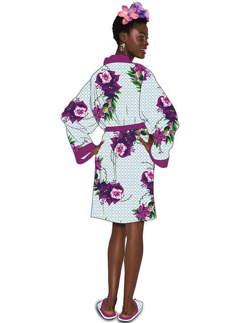 Albornoz de Frida Kahlo Violet Bouquet para mujer