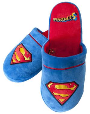 男性用スーパーマンロゴスリッパ