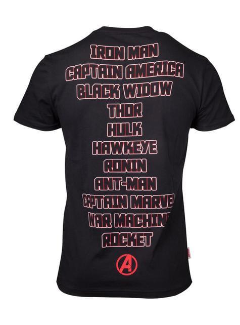 T-shirt dos Vingadores Heróis - Vingadores: Endgame