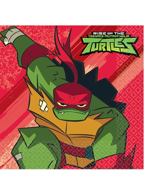 16 Teenage Mutant Ninja Turtles napkins (33x33 cm)