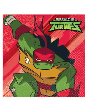 16 servetter med Ninja Turtles (33x33 cm)